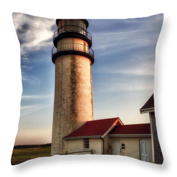 Highland Lighthouse Throw Pillow by Mark Papke