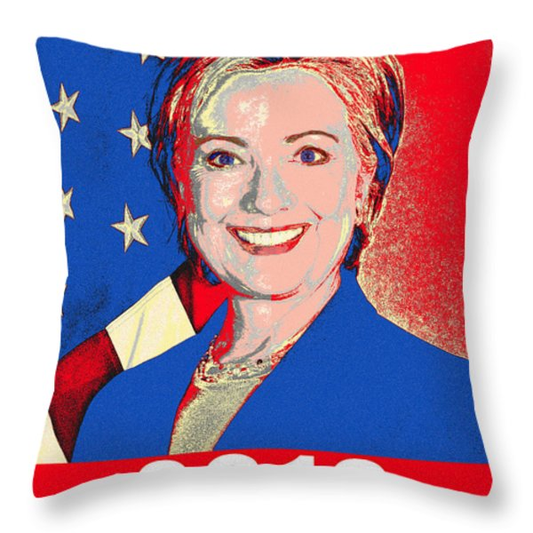 Hillary 2016 Throw Pillow by Scarebaby Design