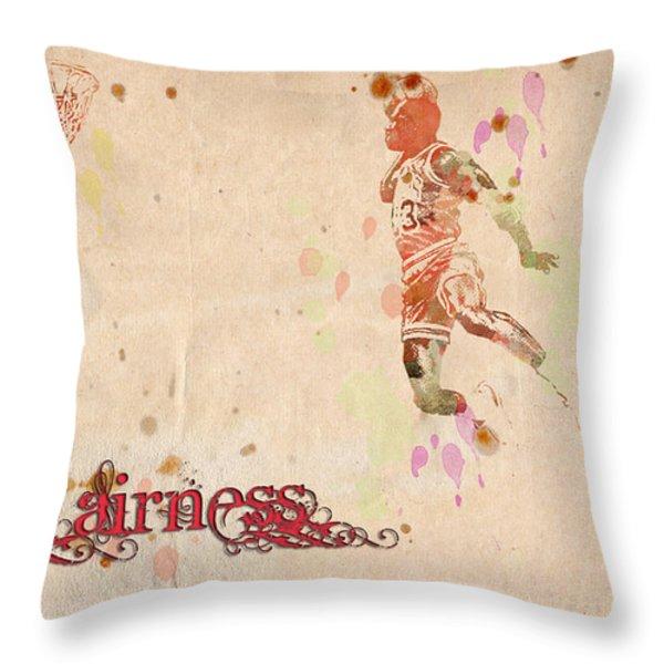 His Airness - Michael Jordan Throw Pillow by Paulette B Wright