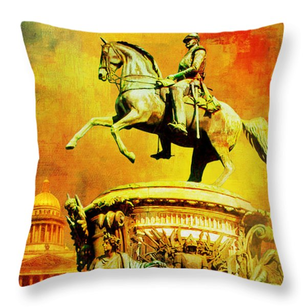Historic Centre Of Saint Petersburg And Related Groups Of Monuments Throw Pillow by Catf
