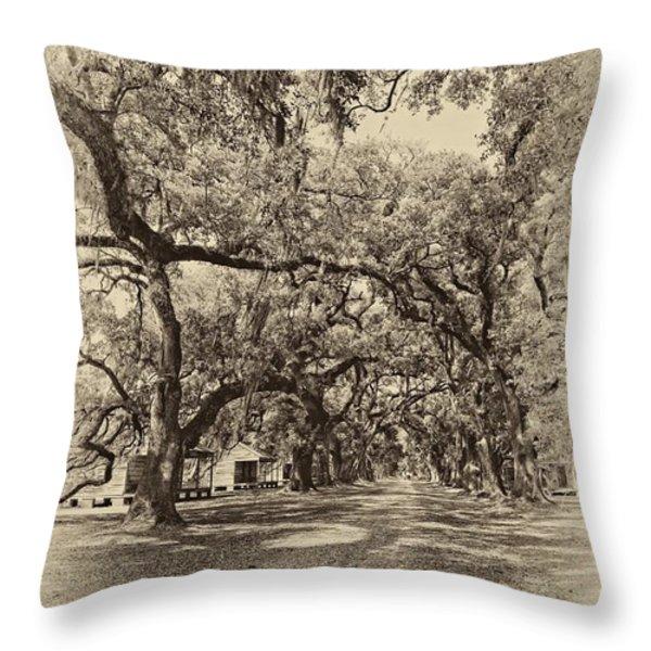 Historic Lane antique sepia Throw Pillow by Steve Harrington