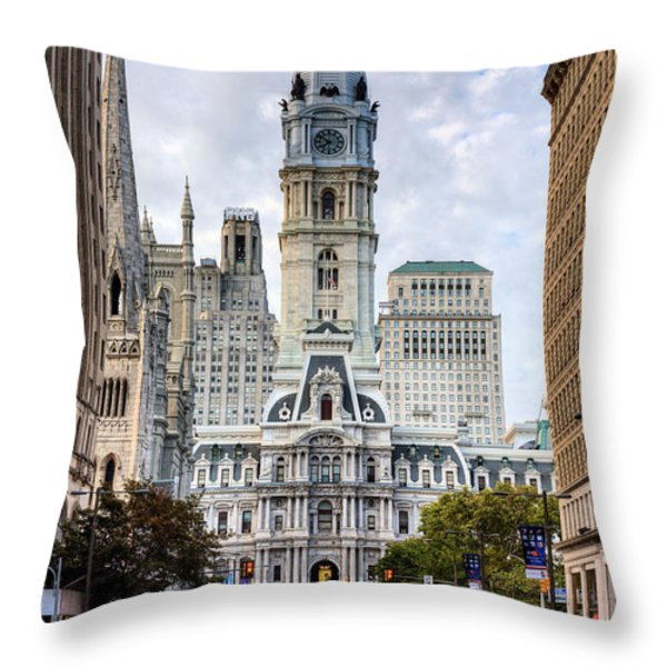 Historic Philly Throw Pillow by JC Findley