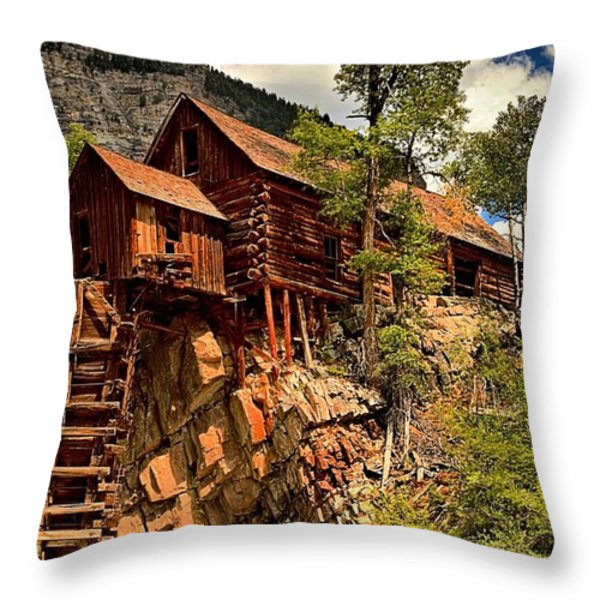 Historic Power Plant Throw Pillow by Adam Jewell