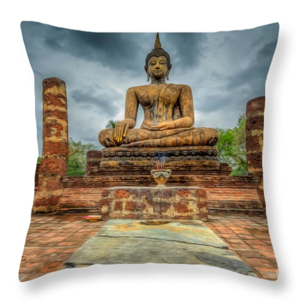 Historical Park Throw Pillow by Adrian Evans