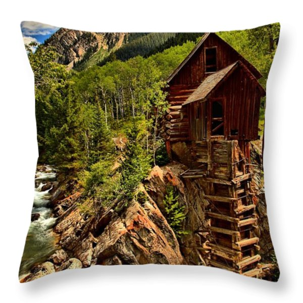 History In Crystal Throw Pillow by Adam Jewell