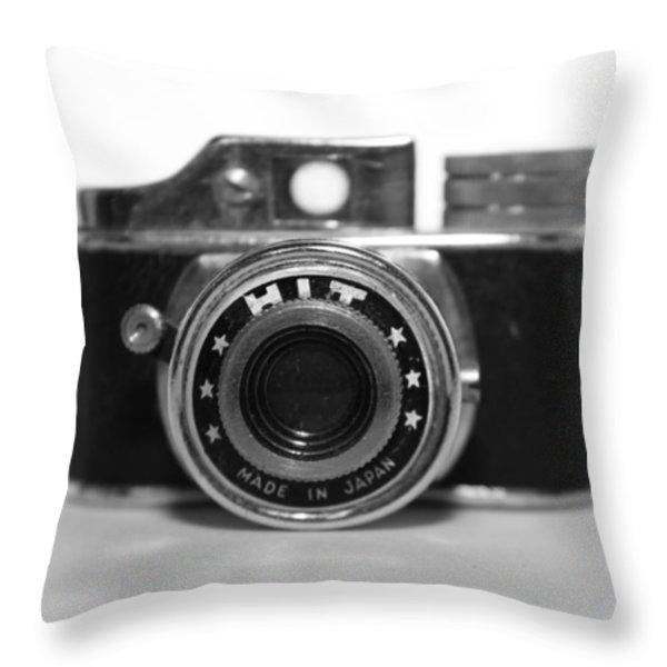 Hit Camera  Throw Pillow by Kelly Hazel