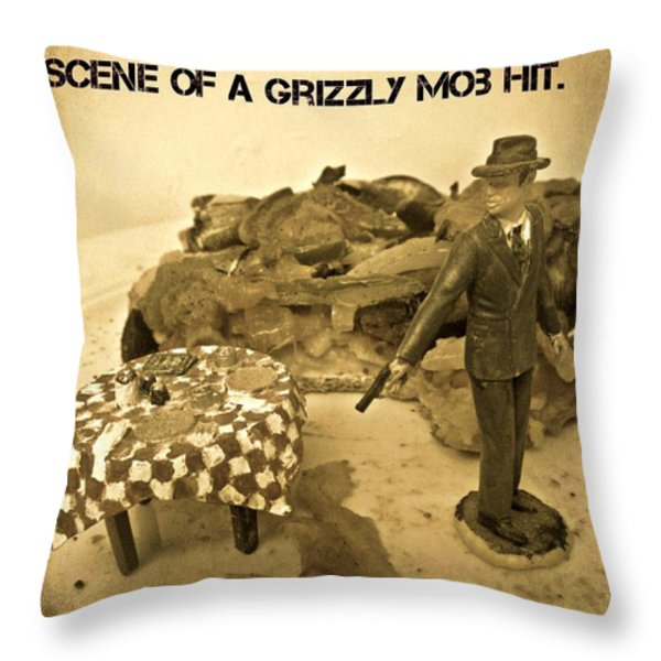 Hit On A Pizza Throw Pillow by John Malone