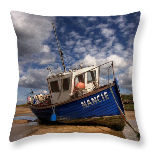 H.m.s. Nancie Throw Pillow by Jann Paxton