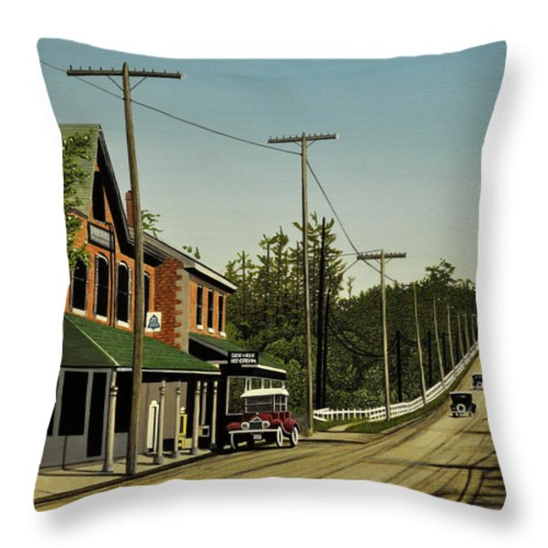 Hoggs Hollow Toronto 1920 Throw Pillow by Kenneth M  Kirsch