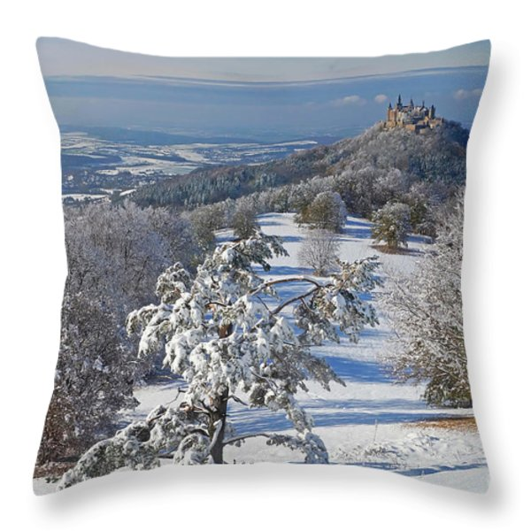 Hohenzollern Castle 2 Throw Pillow by Rudi Prott