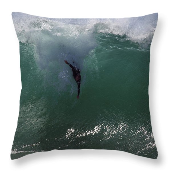 Hold Your Breath Throw Pillow by Joe Schofield