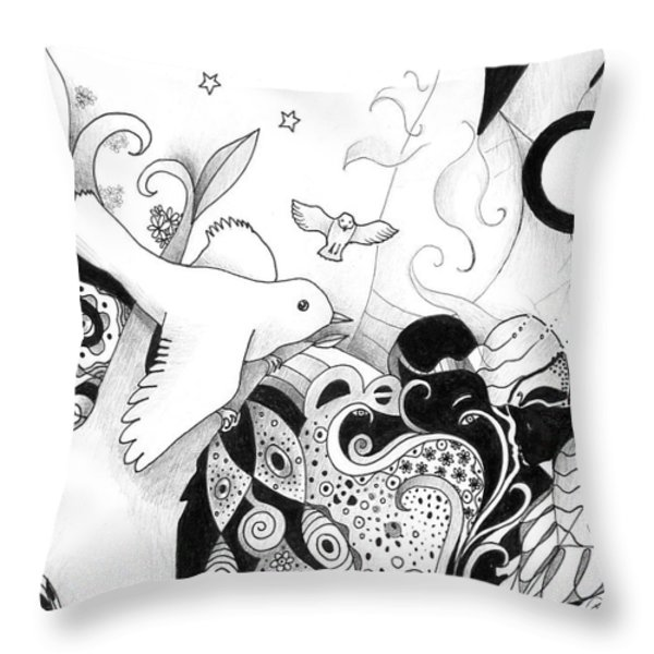 Holding It In Your Hands Throw Pillow by Helena Tiainen