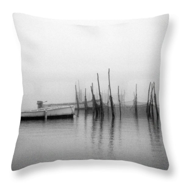 Holding Nets Throw Pillow by Skip Willits