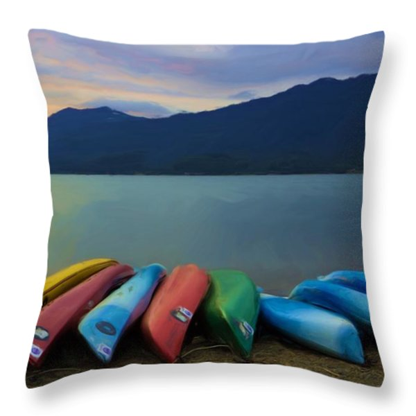 Holding On To Summer Throw Pillow by Heidi Smith