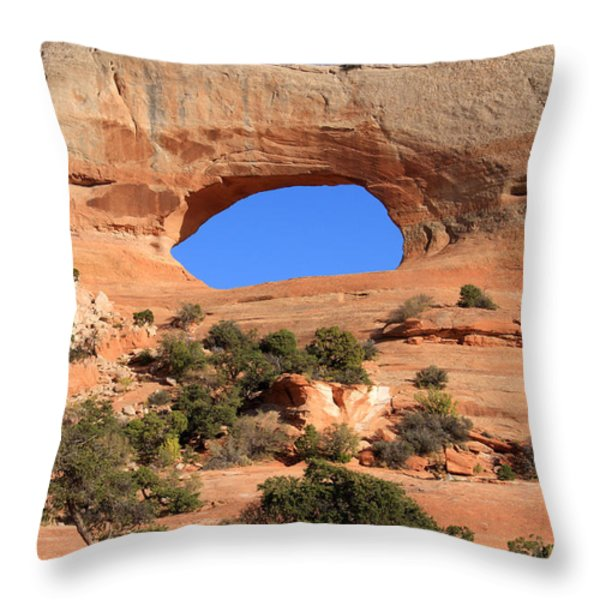 Hole In The Wall Throw Pillow by Aidan Moran
