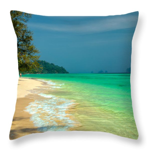 Holiday Destination Throw Pillow by Adrian Evans