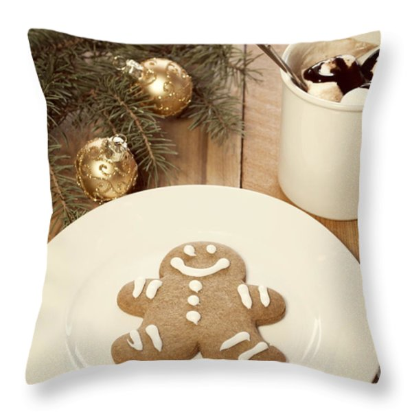 Holiday Treats Throw Pillow by Juli Scalzi