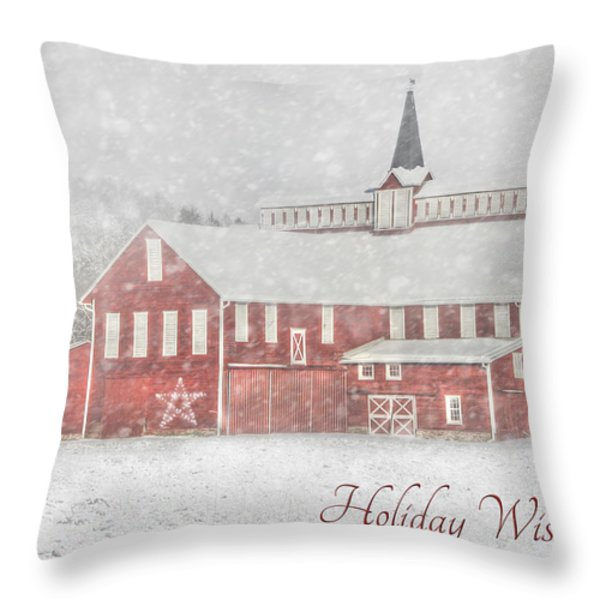 Holiday Wishes Throw Pillow by Lori Deiter