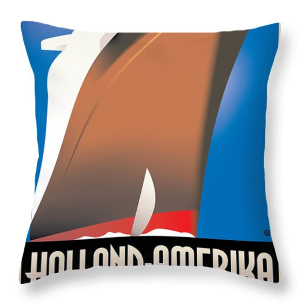 Holland America Throw Pillow by Gary Grayson