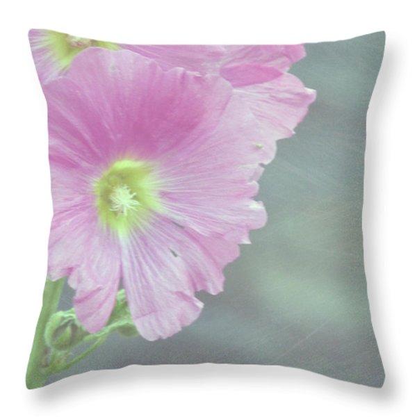 Hollyhock Throw Pillow by Lynn Bolt