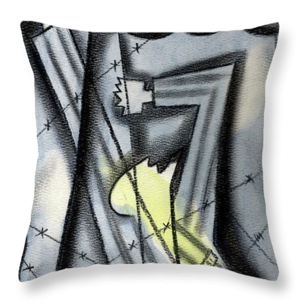 Holocaoust Throw Pillow by Leon Zernitsky