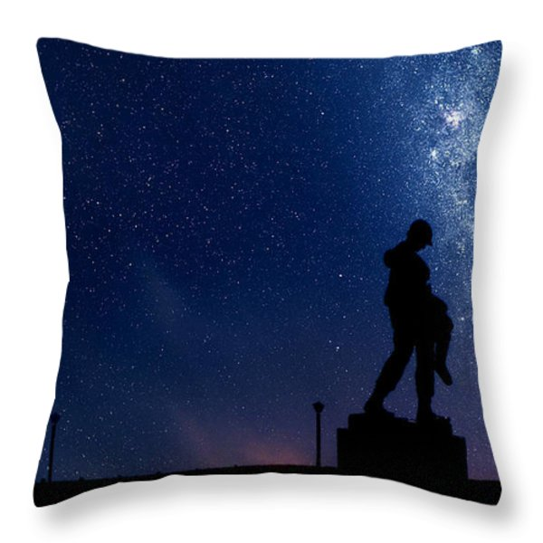 Holocaust Memorial - Night Throw Pillow by Nishanth Gopinathan
