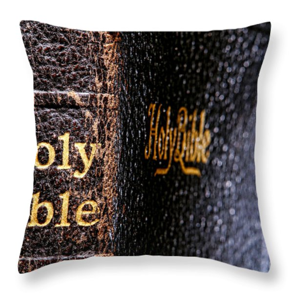 Holy Bible Throw Pillow by Olivier Le Queinec