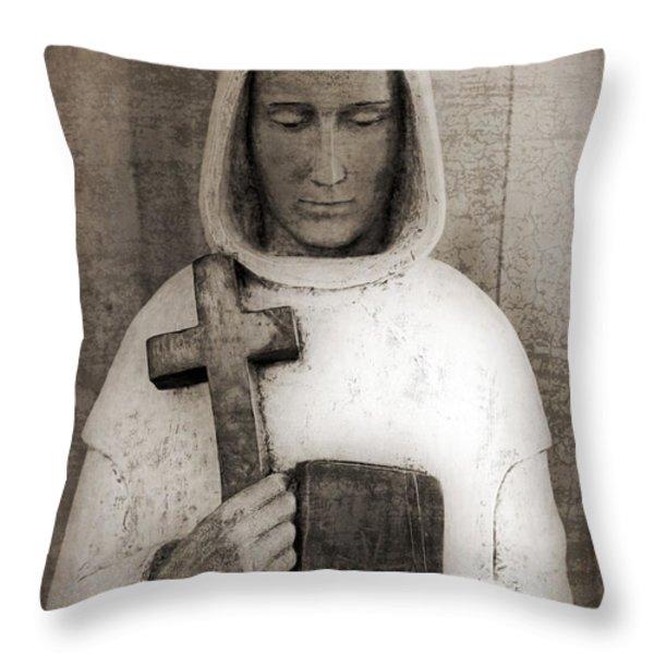 Holy Man Throw Pillow by Edward Fielding