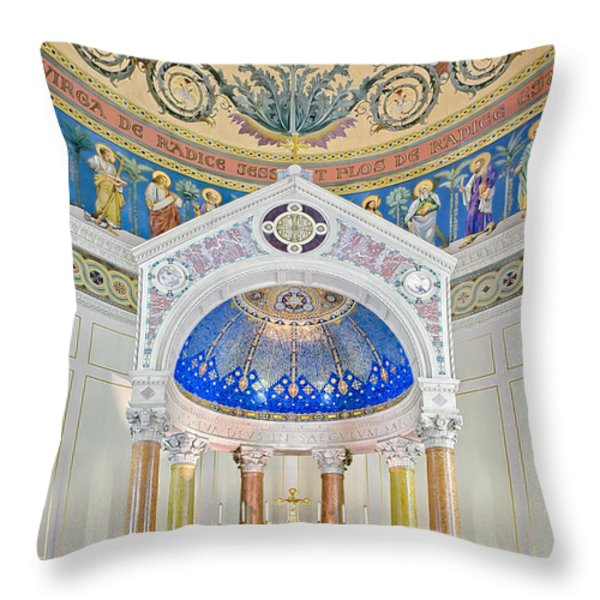 Holy Mary Throw Pillow by Susan Candelario
