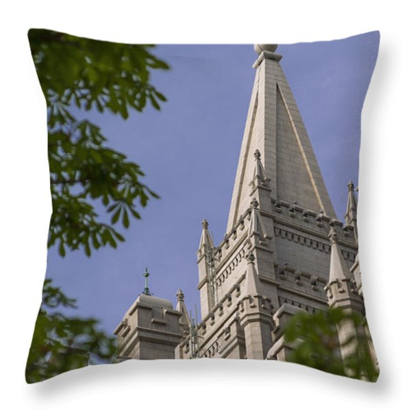 Holy Temple Throw Pillow by Chad Dutson