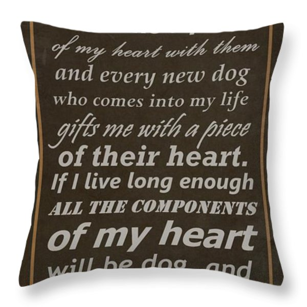 Homage To The Dogs In Our Lives Throw Pillow by Movie Poster Prints