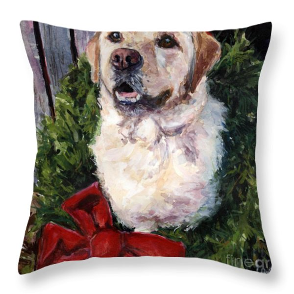 Home For The Holidays Throw Pillow by Molly Poole