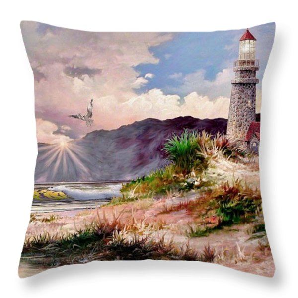 Home for the Night Throw Pillow by Ronald Chambers