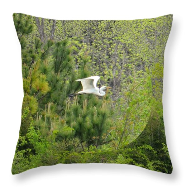 Home Of The Free Throw Pillow by Maria Urso