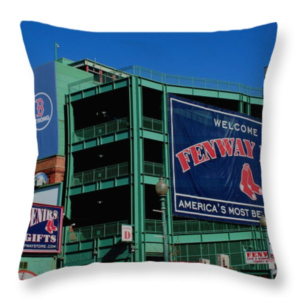 Home Sweet Fenway Throw Pillow by Stephen Melcher