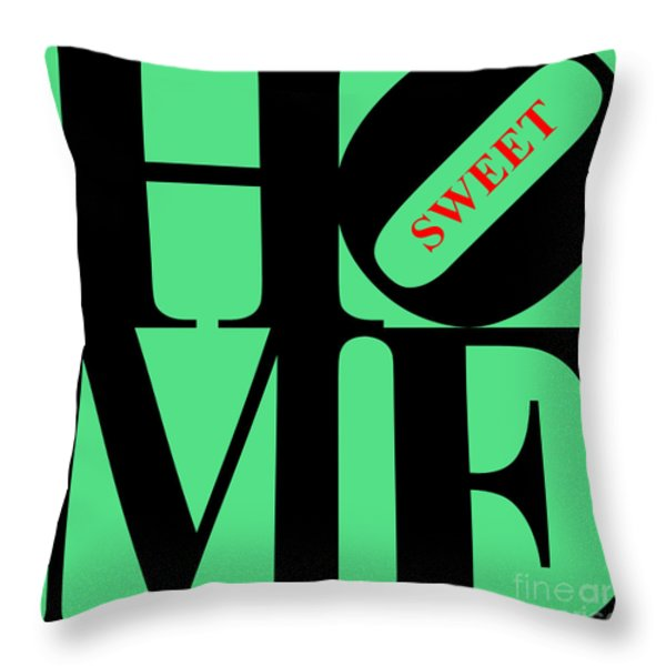 Home Sweet Home 20130713 Black Green Red Throw Pillow by Wingsdomain Art and Photography