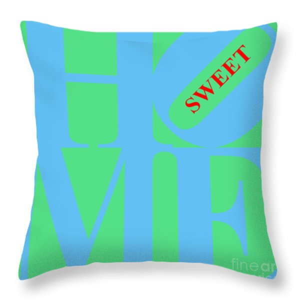 Home Sweet Home 20130713 Blue Green Red Throw Pillow by Wingsdomain Art and Photography