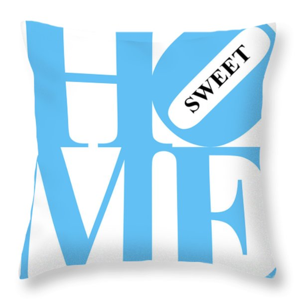 Home Sweet Home 20130713 Blue White Black Throw Pillow by Wingsdomain Art and Photography