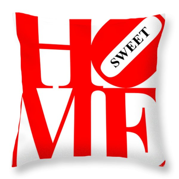 Home Sweet Home 20130713 Red White Black Throw Pillow by Wingsdomain Art and Photography