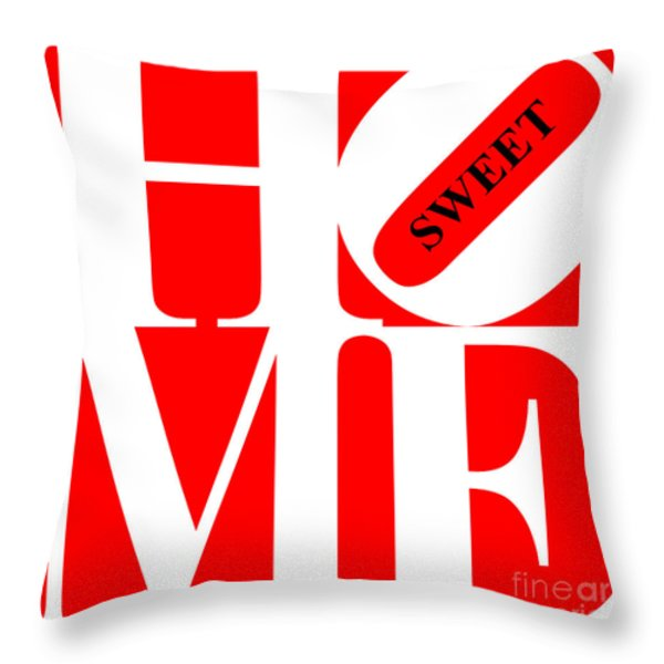 Home Sweet Home 20130713 White Red Black Throw Pillow by Wingsdomain Art and Photography