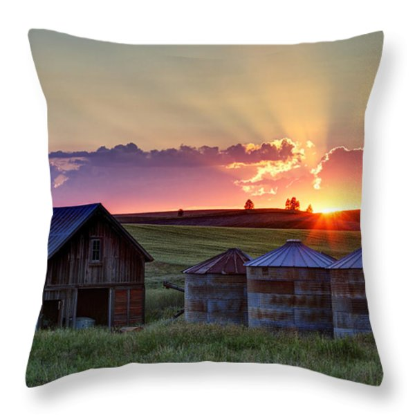 Home Town Sunset Throw Pillow by Mark Kiver