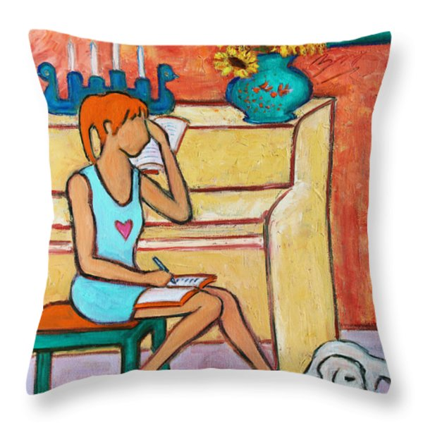 Home Where My Heart Is IV Throw Pillow by Xueling Zou