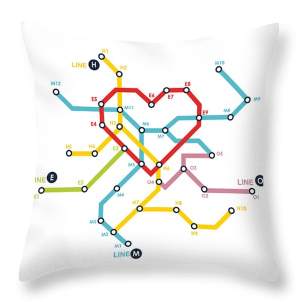 Home Where The Heart Is Throw Pillow by Budi Kwan