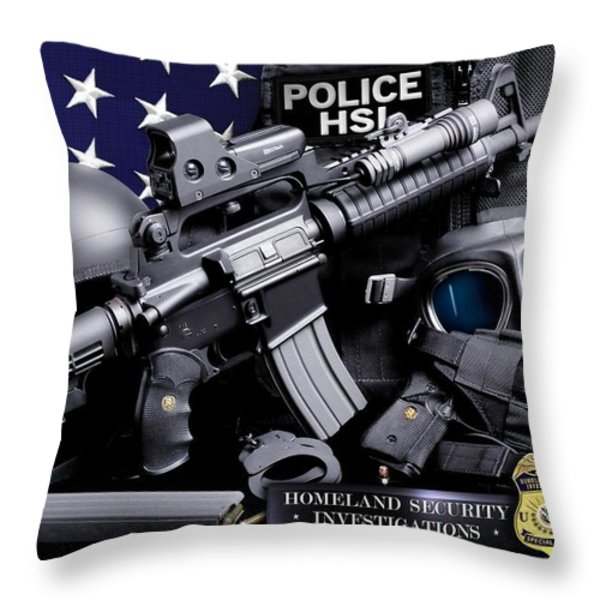 Homeland Security 1 Throw Pillow by Gary Yost