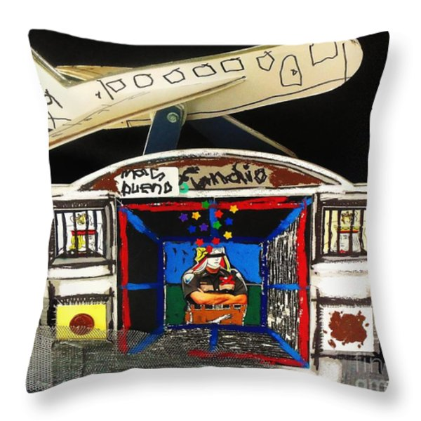 Homeland Security Phase 1 Back View Throw Pillow by Mack Galixtar