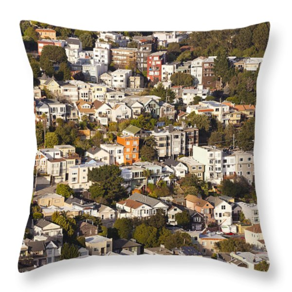 Homes Of San Francisco Throw Pillow by B Christopher