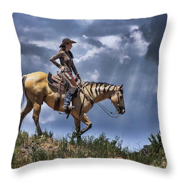 Homeward Bound Throw Pillow by Priscilla Burgers