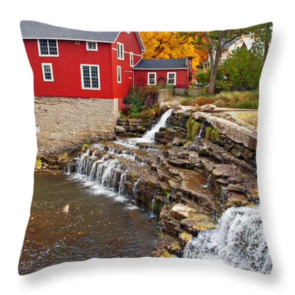 Honeoye Falls 1 Throw Pillow by Aimee L Maher Photography and Art