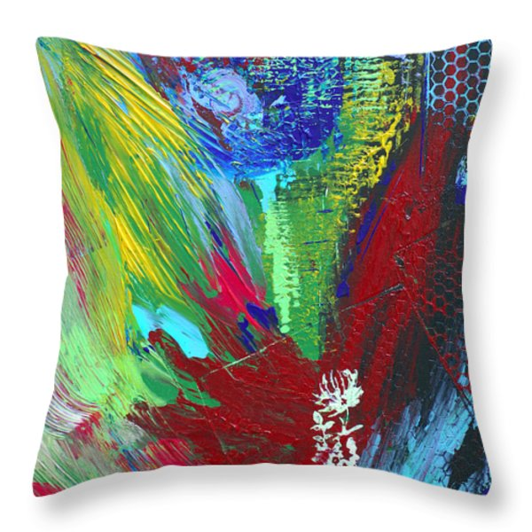 Honeycomb Throw Pillow by Donna Blackhall