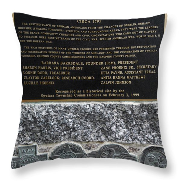Honored Blacks Throw Pillow by Paul W Faust -  Impressions of Light
